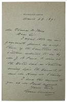 Grover Cleveland Signed Handwritten Letter with Original Envelope (Beckett LOA) at PristineAuction.com