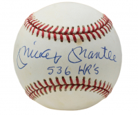 "Mickey Mantle Signed OAL Baseball Inscribed ""536 HR's"" (PSA LOA)"