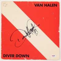 "David Lee Roth Signed Van Halen ""Diver Down"" Vinyl Record Album Cover (PSA COA) at PristineAuction.com"