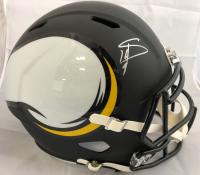 Stefon Diggs Signed Minnesota Vikings Full-Size AMP Alternate Speed Helmet (Total Sports Enterprises Hologram)