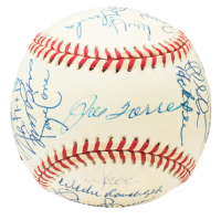 1999 New York Yankees World Series Baseball Team-Signed by (31) with Derek Jeter, Mariano Rivera, Roger Clemens, Joe Torre (Beckett LOA)