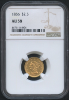 1856 $2.50 Liberty Head Gold Coin (NGC AU 58)