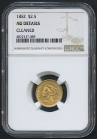 1852 $2.50 Liberty Head Gold Coin (NGC AU Details)