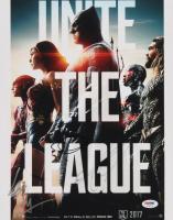 "Ezra Miller, Ben Affleck & Jason Momoa Signed ""Justice League"" 11x14 Photo (PSA LOA) at PristineAuction.com"
