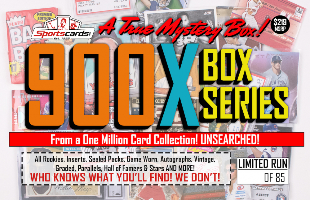 """MYSTERY 900X SERIES"" A True Sports Card Mystery Box! at PristineAuction.com"
