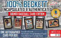 """100% Beckett Encapsulated & Authenticated"" Signed Mystery Box Baseball Card Edition"