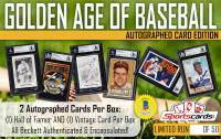 """Golden Age of Baseball"" – Hall of Fame & Vintage Mystery Box Autographed Card Edition! 2 Per Box!"