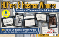 """HOF'ers and Heisman Winners"" –Authenticated / Encapsulated Football Autographs Mystery Boxes"