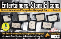 """Entertainers, Stars & Icons"" Beckett Authenticated / Encapsulated Autographs Mystery Box - Series 1"