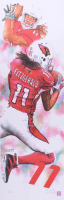 """Ed West Signed LE """"Larry Fitzgerald"""" 11.75x36 Lithograph (PA LOA)"""