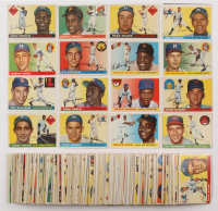1955 Topps Complete Set of (206) Baseball Cards with #2 Williams, #47 Aaron, #50 Robinson, #123 Koufax RC, #124 Killebrew RC, #164 Clemente RC and #194 Mays