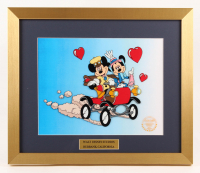 "Walt Disney's ""Mickey & Minnie Mouse"" 16x19 Custom Framed Hand-Painted Animation Serigraph Display at PristineAuction.com"