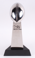 """Jerry Rice Signed High End Replica Full-Size Super Bowl XXIV Lombardi Trophy Inscribed """"Super Bowl XXIV Champ"""" (Beckett Hologram)"""