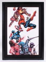 "Stan Lee Signed ""Marvel Knights: Spider-Man #2"" Limited Edition 28.5x39.25 Custom Framed Giclee on Canvas Display (PA LOA)"
