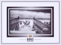 D-Day 6x8 Photo with Omaha Beach Sand (The Zone COA) at PristineAuction.com
