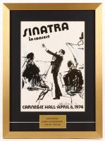 "LeRoy Neiman ""Frank Sinatra"" 17x23 Custom Framed Print Display"