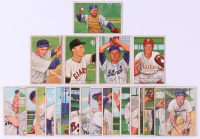 Lot of (23) 1952 Bowman Baseball Cards with #195 Frank Baumholtz, #197 Charlie Silvera, #198 Chcuck Diering, #199 Ted Gray, & #200 Ken Silvestri