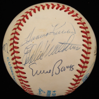 500 Home Run Club Signed by (7) with Harmon Killebrew, Ernie Banks, Eddie Mathews, Willie Mays, Ted Williams (JSA ALOA)