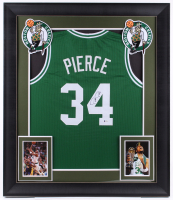 Paul Pierce Signed 32x37 Custom Framed Jersey Display (Beckett Hologram) at PristineAuction.com