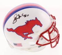 Lance McIlhenny Signed SMU Mustangs Mini Helmet (JSA COA) at PristineAuction.com