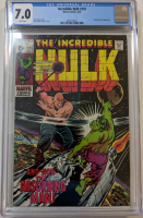 "1970 ""The Incredible Hulk"" Issue #125 Marvel Comic Book (CGC 7.0)"