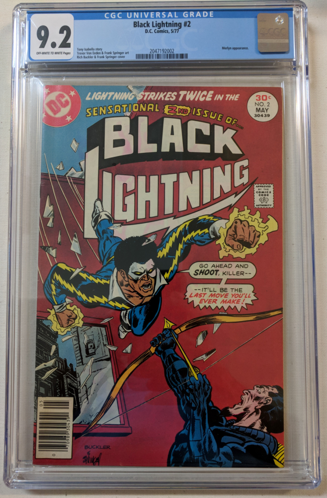 "1977 ""Black Lightning"" Issue #2 DC Comic Book (CGC 9.2) at PristineAuction.com"