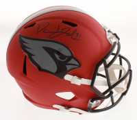 David Johnson Signed Arizona Cardinals Full-Size Matte Red Speed Helmet (Beckett COA)