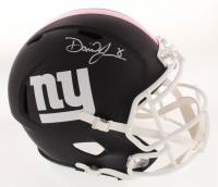 Daniel Jones Signed New York Giants Full-Size Matte Black Speed Helmet (Beckett COA)