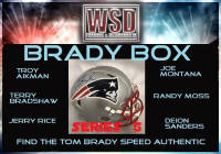 "WSD ""Brady Box"" Series 5 Mystery Helmet Box - Autographed Football Helmet Series"
