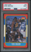 1986-87 Fleer #68 Karl Malone RC (PSA 9) at PristineAuction.com