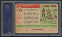 1955 Topps #123 Sandy Koufax RC (PSA 4) at PristineAuction.com