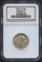 1918 25¢ Standing Liberty Quarter (NGC MS 61) at PristineAuction.com