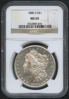 1880-S $1 Morgan Silver Dollar (NGC MS 65) at PristineAuction.com