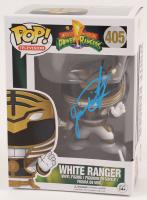 """Jason David Frank Signed """"Mighty Morphin Power Rangers"""" White Ranger #405 Funko Pop! Vinyl Figure (Beckett COA)"""