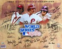 1980 World Series Champions Philadelphia Phillies 16x20 Photo Team-Signed by (24) with Mike Schmidt, Steve Carlton, Pete Rose, Bob Boone, Bake McBride (Fanatics Hologram)