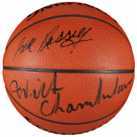 Bill Russell & Wilt Chamberlain Signed NBA Basketball (JSA LOA) at PristineAuction.com