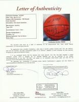 Bill Russell & Wilt Chamberlain Signed NBA Basketball (JSA LOA) at PristineAuction.com