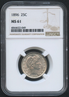 1896 25¢ Barber Quarter (NGC MS 61) at PristineAuction.com