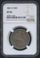 1861-O 50¢ Seated Liberty Half Dollar (NGC XF 45) at PristineAuction.com