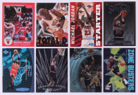 Lot of (8) Michael Jordan Basketball Cards with 1984-85 Star #101 XRC, 1996-97 Finest #50 B, 1995-96 Fleer Total D #3, 1997-98 Ultra Ultrabilities #1