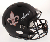 Alvin Kamara Signed New Orleans Saints Full-Size Matte Black Speed Helmet (JSA Hologram)