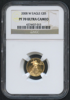 2008-W $5 Five Dollars American Gold Eagle Saint-Gaudens - 1/10 Oz Gold Coin (NGC PF 70 Ultra Cameo)