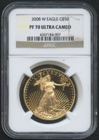 2008-W $50 Fifty Dollars American Gold Eagle Saint-Gaudens - 1 Oz Gold Coin (NGC PF 70 Ultra Cameo)