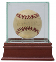 Babe Ruth Signed OAL Baseball with Display Case (PSA LOA)