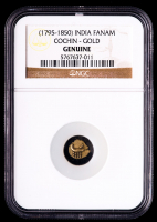 (1795-1850) India - Cochin Gold Fanam (NGC Genuine) at PristineAuction.com