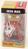 "Stan Lee Signed ""Iron Man"" ""Captain America: Civil War"" Marvel Funko Wobblers Bobble-Head (Lee Hologram)"