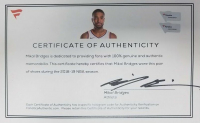 Mikal Bridges Signed Pair of Game-Used Nike Shoes (Fanatics COA) at PristineAuction.com