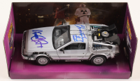 "Michael J. Fox & Christopher Lloyd Signed ""Back to the Future"" Delorean Time Machine 1:24 Die-Cast Car (PSA LOA)"