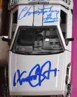 "Michael J. Fox & Christopher Lloyd Signed ""Back to the Future"" Delorean Time Machine 1:24 Die-Cast Car (PSA LOA) at PristineAuction.com"
