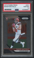 2018 Panini Prizm #201 Baker Mayfield RC (PSA 10) at PristineAuction.com